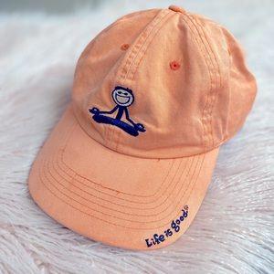 Life Is Good Coral Orange Unisex Cap Hat One Size